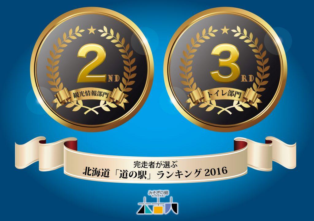 """『完走者が選ぶ""""道の駅""""ランキング2016』 2部門で上位入賞!"""