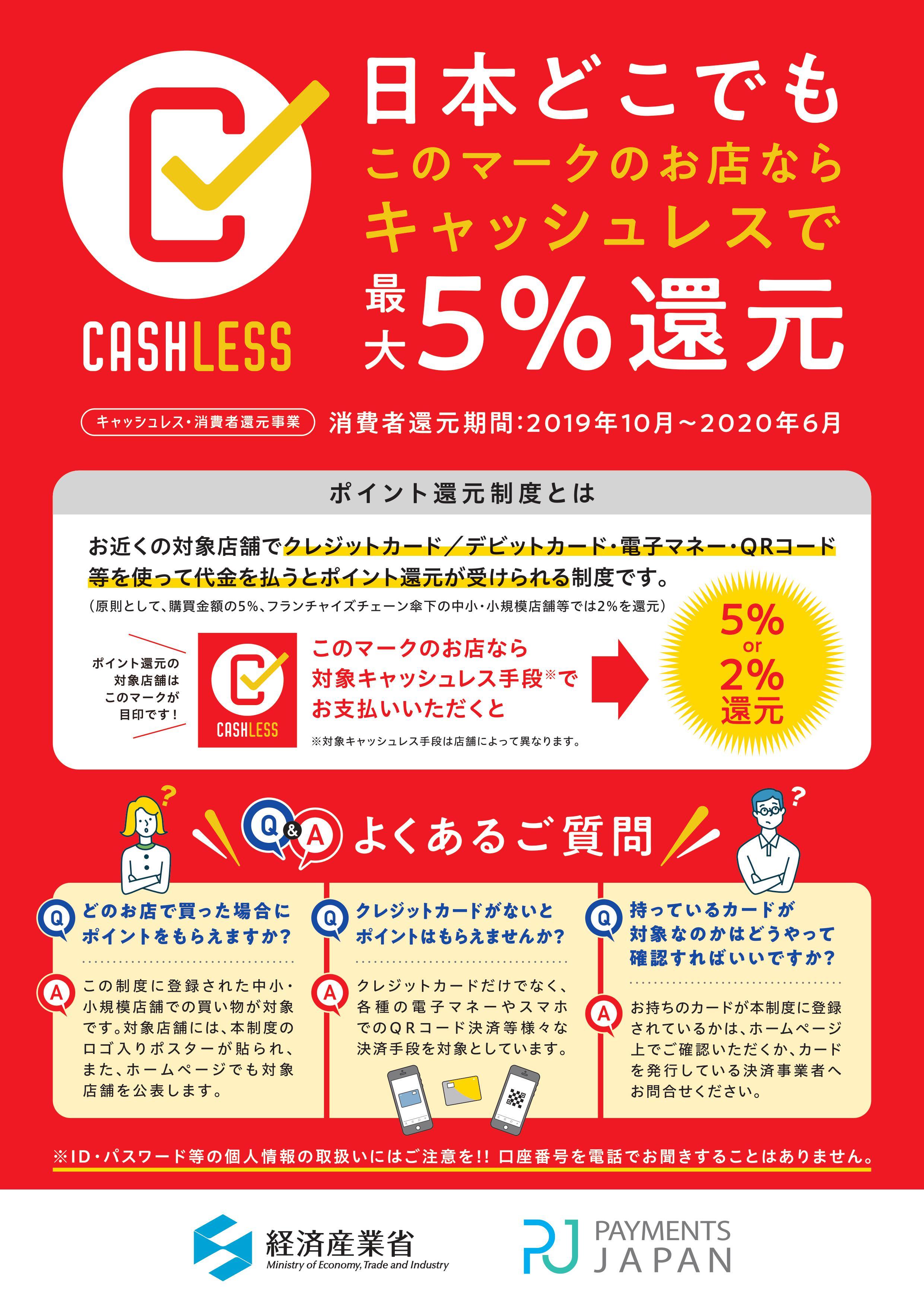 「キャッシュレス 5パーセント」の画像検索結果