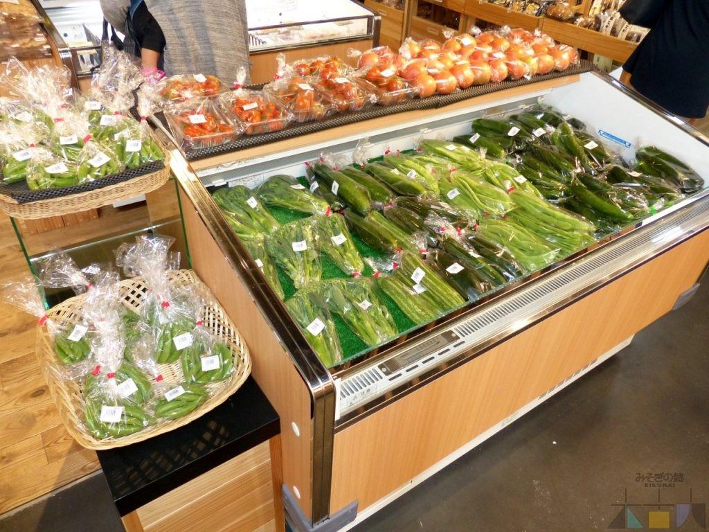 地元野菜コーナー出現!