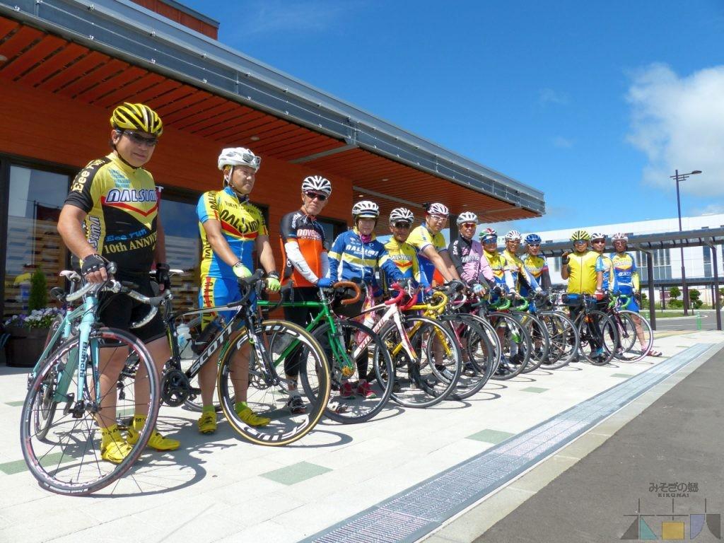 本州からサイクルチームの皆さんが来館されました