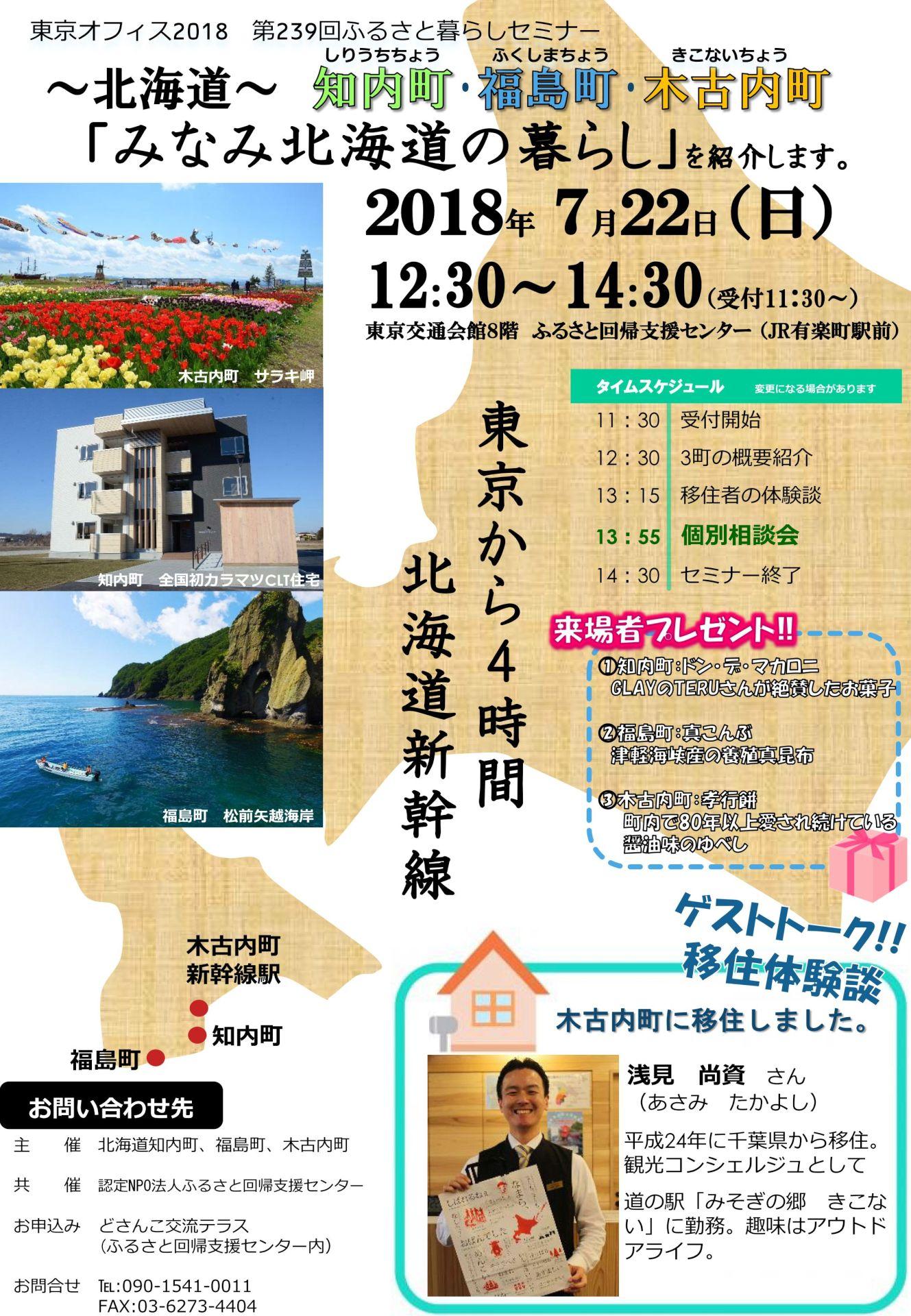 【観光コンシェルジュ】再び有楽町に出没! 北海道移住のススメを講演
